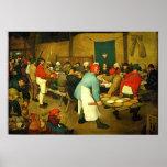 El boda campesino de Pieter Bruegel (1568) Poster