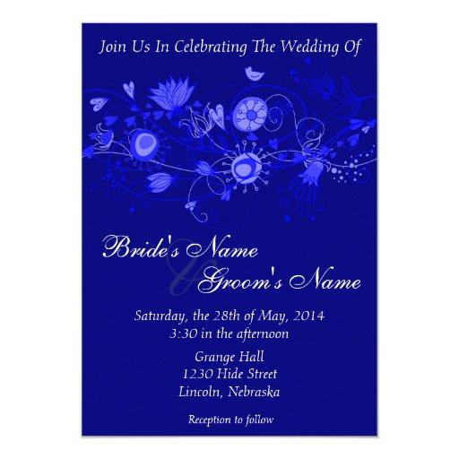 El boda caprichoso de los azules marinos invita anuncio