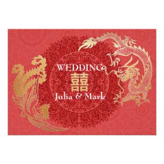 El boda chino moderno de Dragón-Phoenix invita a r Anuncios