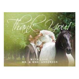 El boda clásico de la foto de la escritura el   le postal
