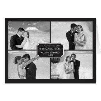 El boda clásico elegante de la placa le agradece tarjeta