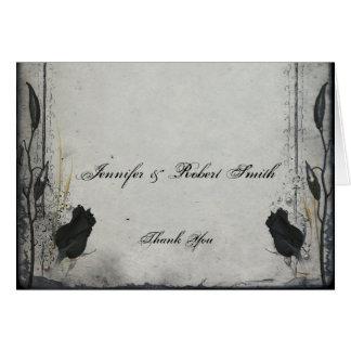 El boda color de rosa negro gótico del enrejado le tarjeta