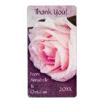 El boda color de rosa rosado blando le agradece em etiquetas de envío