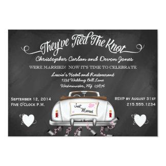 El boda convertible del poste de la pizarra del invitación 12,7 x 17,8 cm
