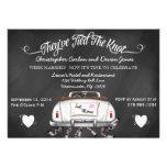 El boda convertible del poste de la pizarra del vi invitaciones personalizada