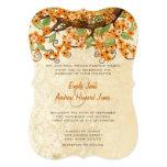 El boda coralino elegante de la flor de cerezo del comunicados personalizados