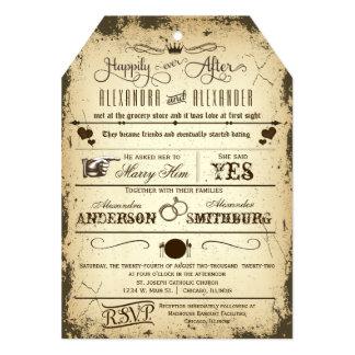 El boda cortado con tintas etiqueta del argumento anuncio personalizado