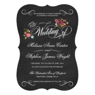 El boda cortado con tintas pizarra floral rústica  anuncios personalizados