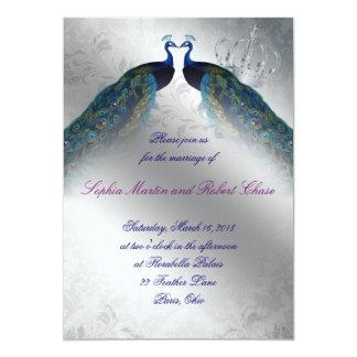 """El boda de 767 pavos reales invita a la MOD de Invitación 5"""" X 7"""""""