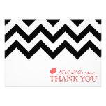 El boda de Chevron le agradece las tarjetas Anuncios Personalizados