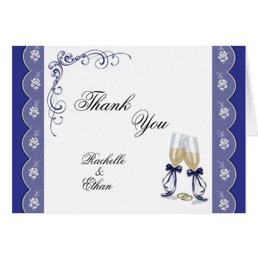 El boda de cristal de Champán le agradece Notecard Tarjetas