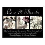 El boda de encargo del amor/de las gracias le agra tarjeta postal