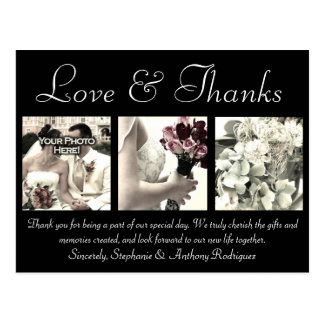 El boda de encargo del amor de las gracias le agra tarjeta postal