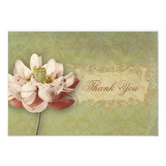 El boda de Etude de Fleurs Vintage le agradece Invitación 8,9 X 12,7 Cm