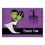 El boda de Halloween le agradece novia de Tarjeta Pequeña