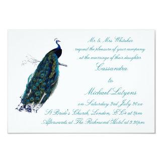 """El boda de la colección del pavo real invita invitación 3.5"""" x 5"""""""