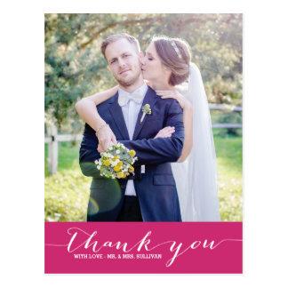 El boda de la escritura de la amapola el | le agra tarjeta postal