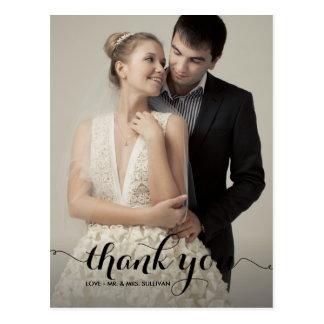 El boda de la escritura de la caligrafía le tarjetas postales