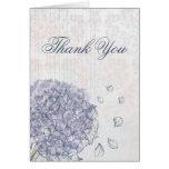 El boda de la flor del hydrangea del azul de cobal felicitación