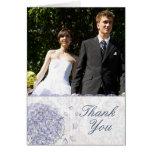 El boda de la flor del hydrangea del azul de cobal felicitacion