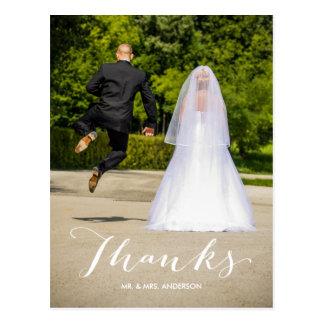 El boda de la foto de la caligrafía el | le postal
