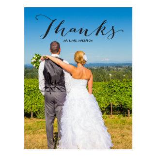 El boda de la foto del negro el | de la gratitud tarjeta postal