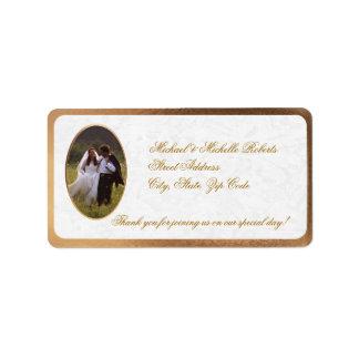 El boda de la foto del personalizar le agradece el etiquetas de dirección