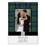 El boda de la foto del tartán de Sinclair le agrad Felicitación