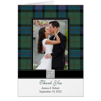 El boda de la foto del tartán de Sinclair le agrad Tarjeta De Felicitación