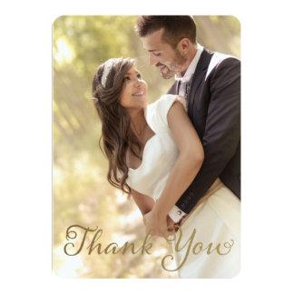 """El boda de la foto le agradece, falso efecto de la invitación 5"""" x 7"""""""