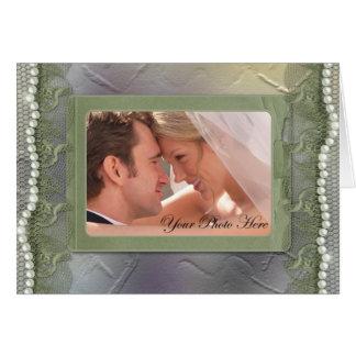 El boda de la foto le agradece las tarjetas