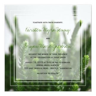 el boda de la hierba verde de la foto del fatfatin invitación 13,3 cm x 13,3cm
