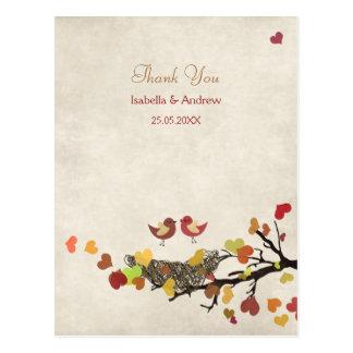 El boda de la jerarquía de amor le agradece tarjetas postales