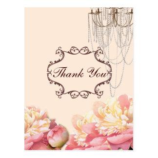 el boda de la lámpara de las flores del vintage le tarjeta postal