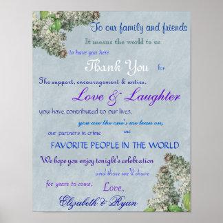 El boda de la lila púrpura le agradece póster