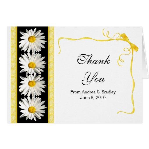 El boda de la margarita de Shasta le agradece card Tarjetas