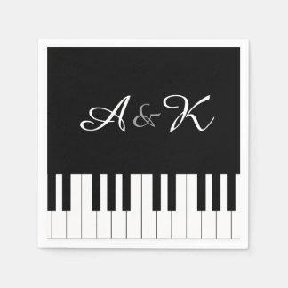 El boda de la música del teclado de piano fijó 50 servilleta desechable