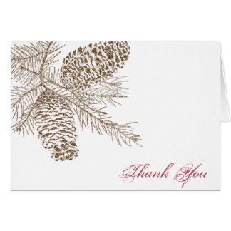 El boda de la naturaleza del cono del pino le tarjeta de felicitación