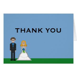 El boda de la novia y del novio del videojugador tarjeta pequeña