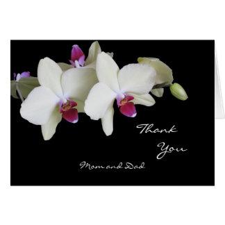 El boda de la orquídea le agradece cardar a los pa tarjeta de felicitación