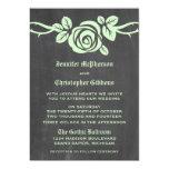 El boda de la pizarra del rosa verde invita comunicados personales