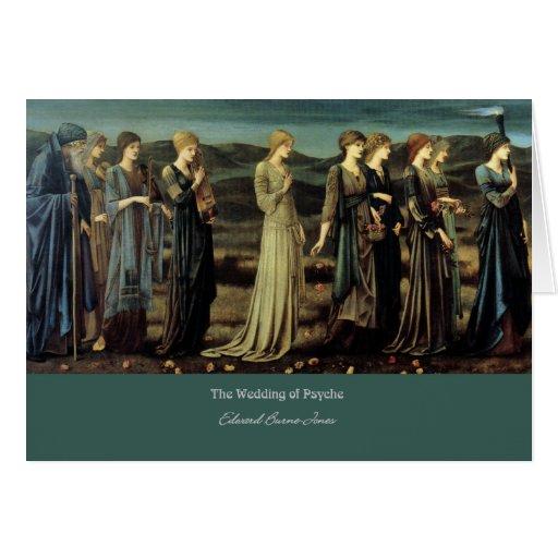 """""""El boda de la psique"""", por Edward Burne-Jones Tarjeta De Felicitación"""