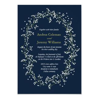 El boda de la respiración del bebé dulce invita invitación 12,7 x 17,8 cm