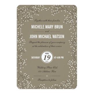 """El boda de la respiración del bebé invita a invitación 5"""" x 7"""""""
