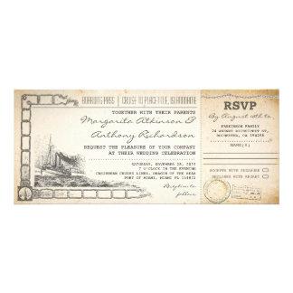 el boda de la travesía del documento de embarque i anuncio