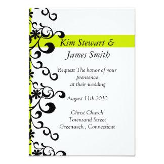 """el boda de la voluta de la cinta invita invitación 5"""" x 7"""""""