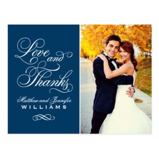 El boda de los azules marinos del amor y de las postal