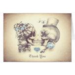 El boda de los pares del cráneo le agradece las tarjeta pequeña
