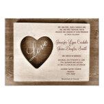 El boda de madera del corazón del amor del granero anuncio personalizado