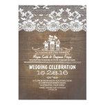 El boda de madera rústico del cordón de los tarros anuncio personalizado